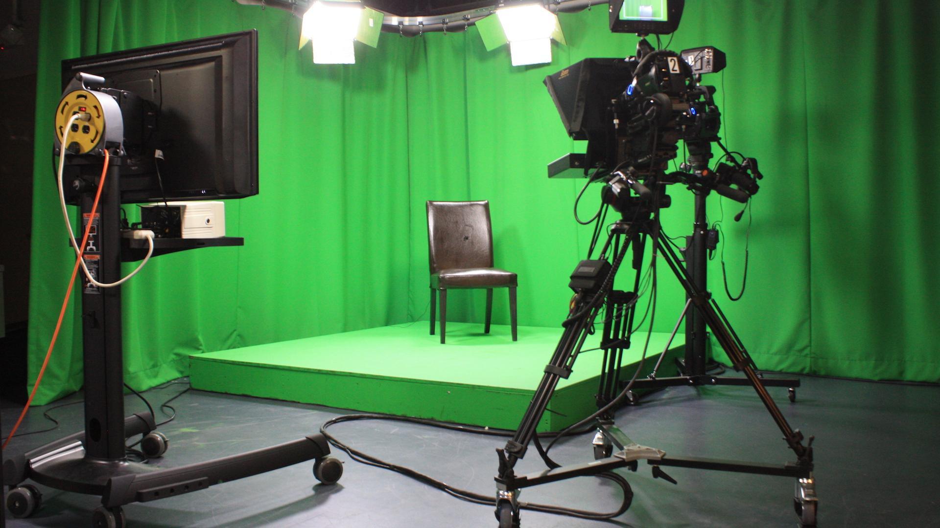 Filmen met greenscreen of in eigen videostudio