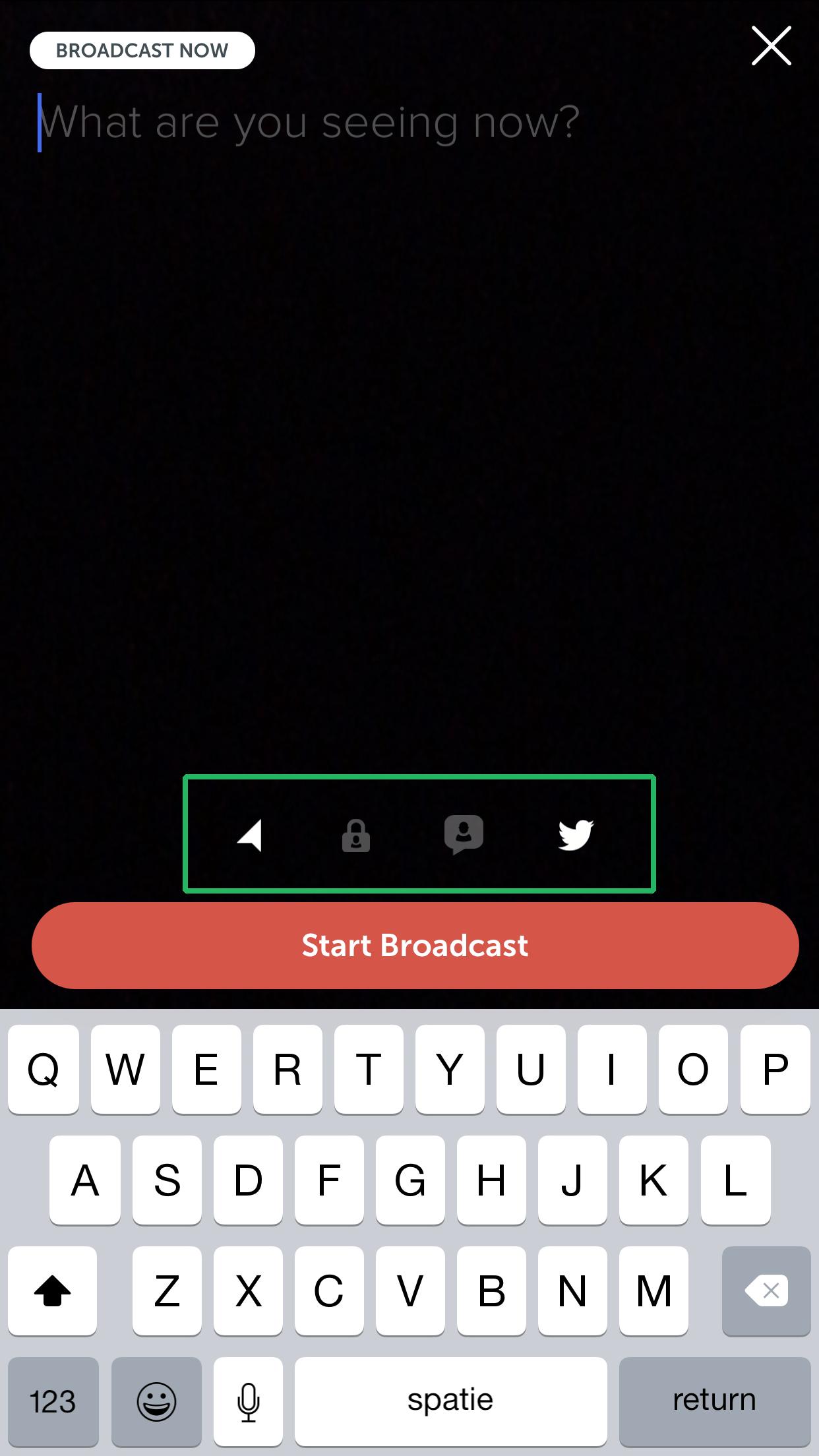 Wat is Periscope uitleg iconen uitzending