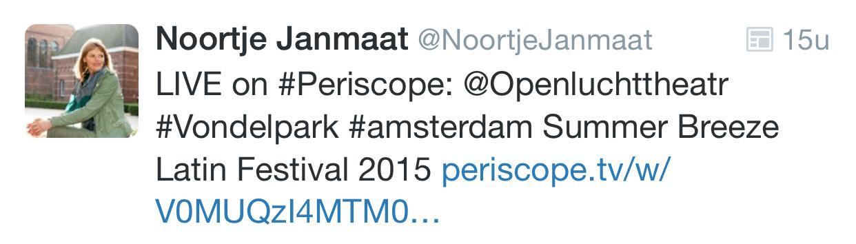 Wat is Periscope uitzending op Twitter vermelden