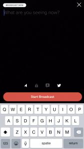 Wat is Periscope uitzending beginnen stap 2
