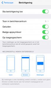 Instellingen voor Periscope op je iPhone aanpassen