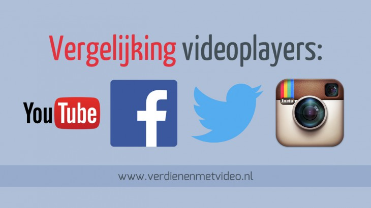 Bekijk 4 videoplayers op een rij YouTube Facebook Twitter Instagram