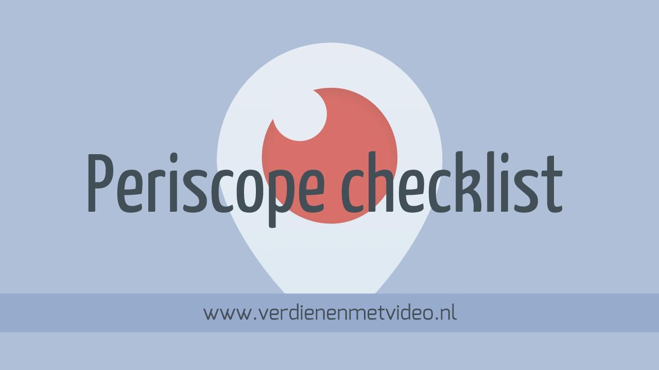 Periscope-checklist