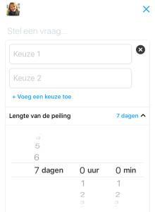 Twitter poll op je iPhone maken stap tijdsduur instellen