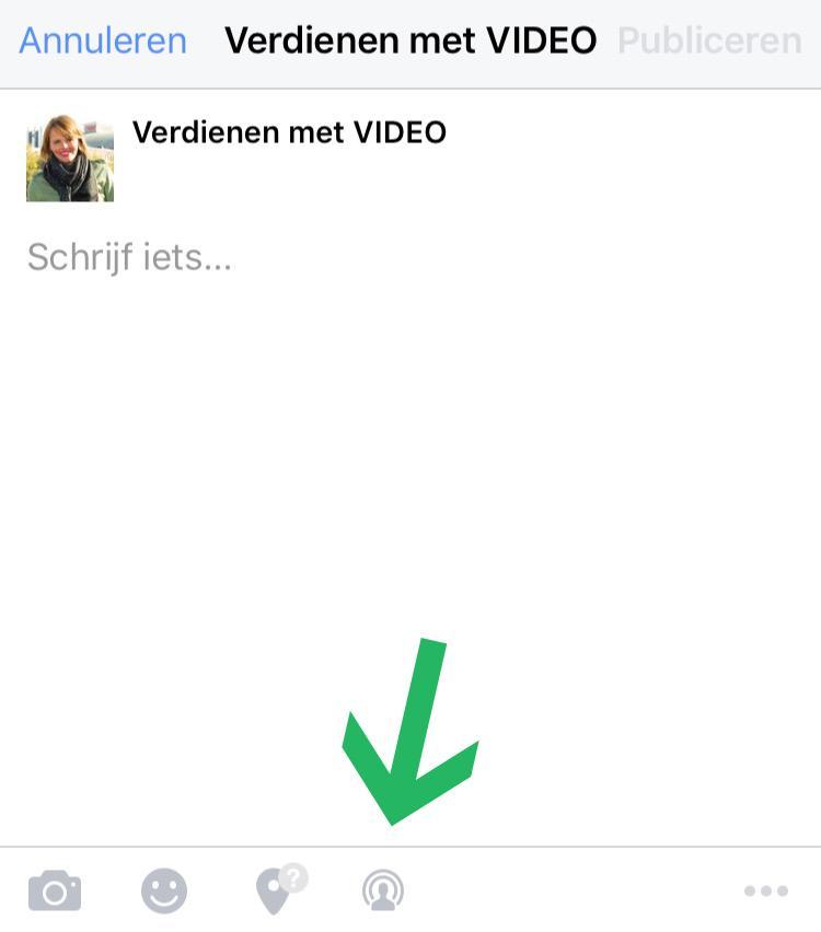 Facebook Live Video zakelijke pagina stap 2