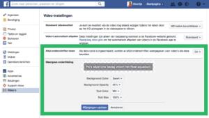 Facebook video weergave ondertiteling aanpassen