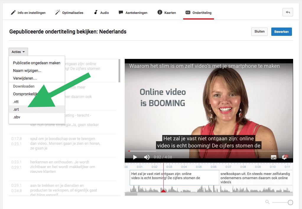 Hoe voeg je ondertiteling toe aan je Facebook video stap 3