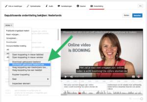 Hoe voeg je ondertiteling toe aan je Facebook video stap 4