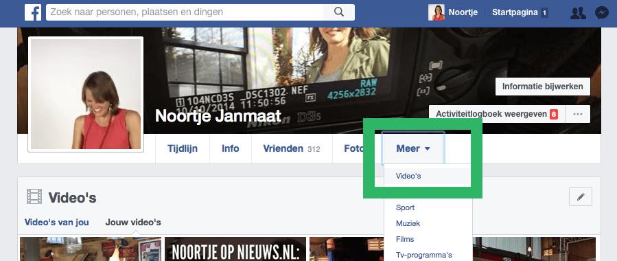 Ondertiteling toevoegen aan je Facebook video via je persoonlijke profiel stap 1