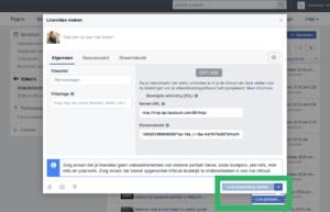 Facebook Live inplannen met OBS stap 3