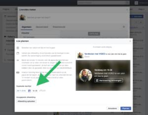 Facebook Live inplannen met OBS stap 4