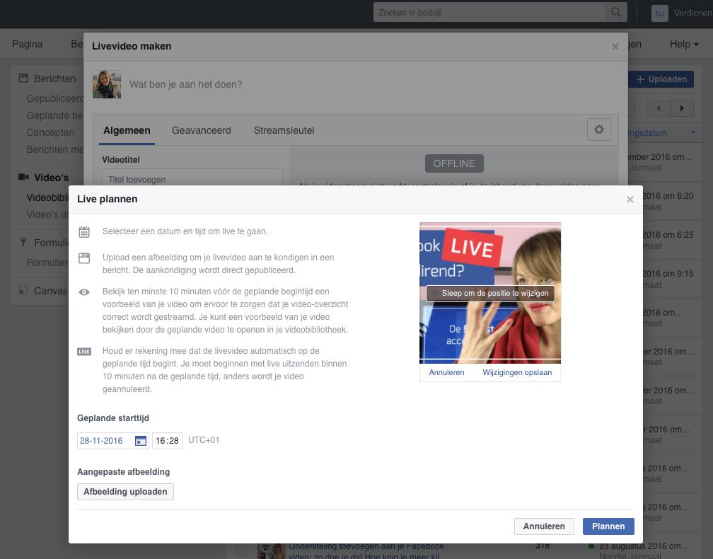 Facebook Live inplannen met OBS stap 5