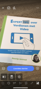 Facebook Live video in spiegelbeeld tip