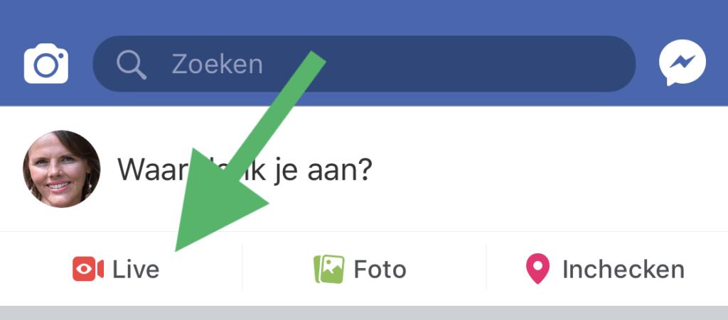 Facebook Live Video smartphone stap 1