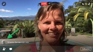 Facebook Live video met 2 personen live kijker uitnodigen
