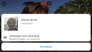 Facebook Live video met 2 personen personen uitnodigen