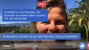 Facebook Live video met 2 personen weergave kijker
