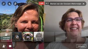 Facebook Live video met 2 personen nieuwe gast