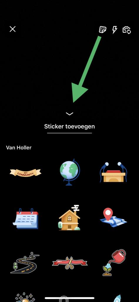 LinkedIn video stickers toevoegen