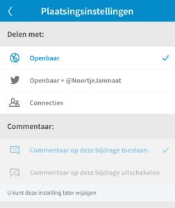 LinkedIn video toevoegen via mobiele app stap 7