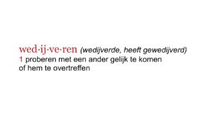 Last van concurrentie betekenis wedijver volgens Dikke Van Dale