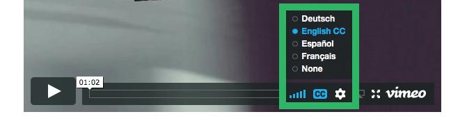 Ondertiteling toevoegen aan Vimeo video stap 5