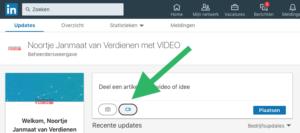 Ondertiteling LinkedIn native video toevoegen stap 1