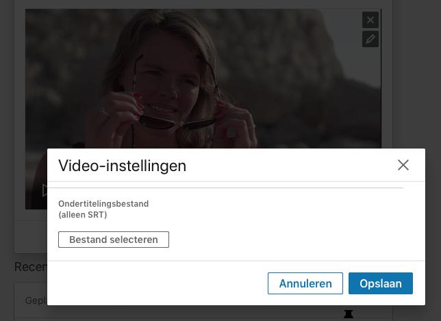 Ondertiteling LinkedIn native video toevoegen stap 3