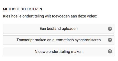 srt bestand maken via YouTube voor ondertiteling video stap 2