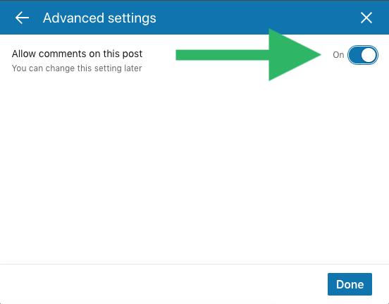 Hoe maak ik een LinkedIn event aan stap 6 Reacties uitzetten