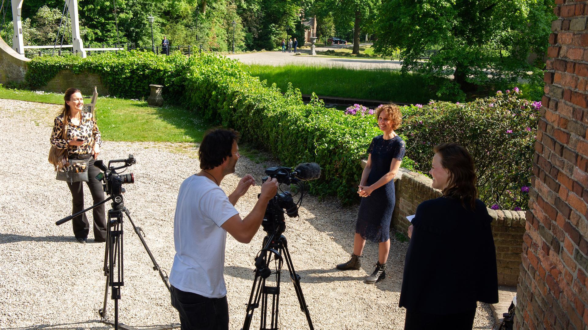 Video opnemen voor het kasteel Nyenrode