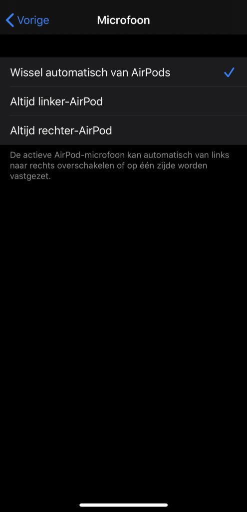 AirPods als draadloze microfoon voor video microfoon instellen