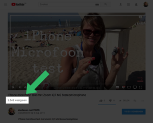 Video op Facebook of YouTube - video weergaven