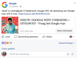 Video op Facebook of YouTube - weergave YouTube video