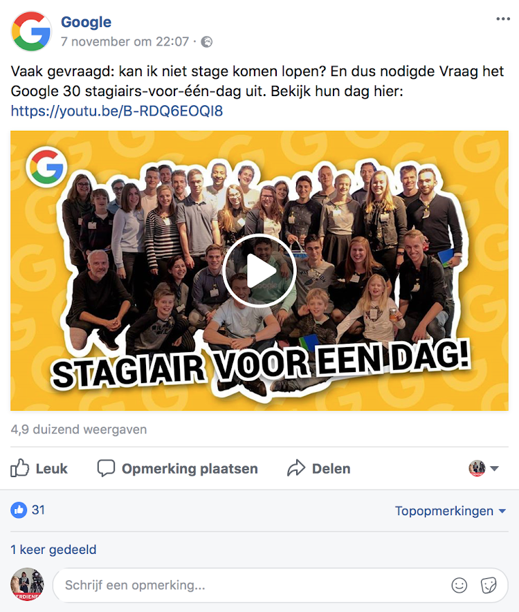 Video op Facebook of YouTube - weergave native video