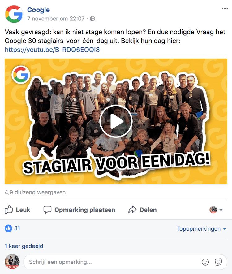 Video op Facebook of YouTube - weergave native video