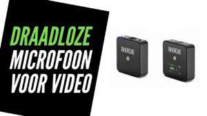 Draadloze microfoon voor video smartphone vlogcamera DSLR camera