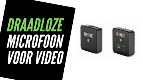 Draadloze Microfoon voor Video: smartphone, vlogcamera of DSLR