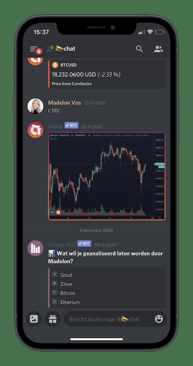 Madelon Vos De MoneyTalks Community over Bitcoin crypto