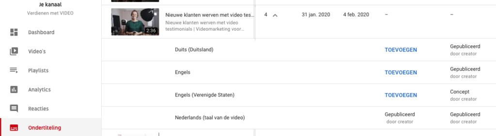 srt bestand downloaden van YouTube