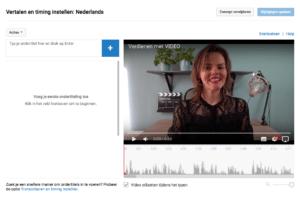srt bestand maken via YouTube Nieuwe ondertiteling maken
