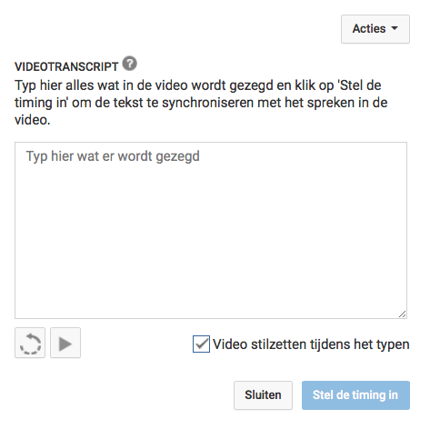 srt bestand maken via YouTube Transcript maken automatisch synchroniseren