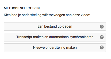 srt bestand maken via YouTube