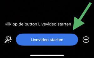 Facebook live video starten