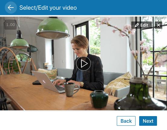 LinkedIn video plaatsen via computer stap 3