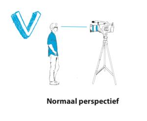 Normaal perspectief video opnemen