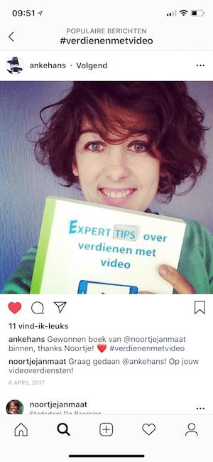 Testimonial boek over videomarketing Anke Hans