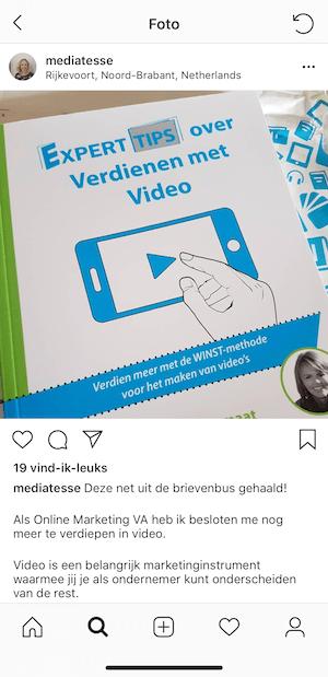 Testimonial boek over videomarketing Mediatesse