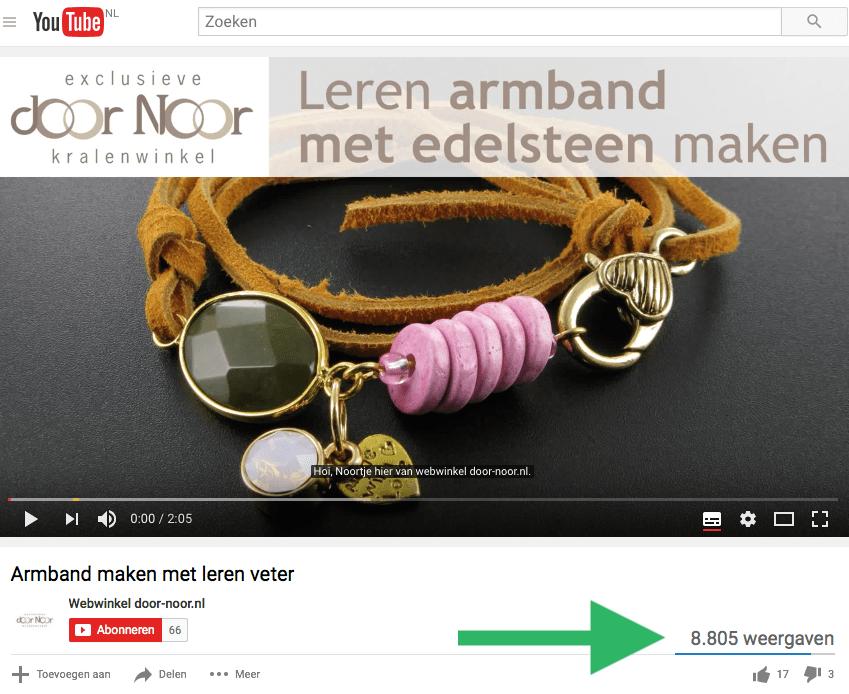 YouTube video zoekresultaten webshop door Noor