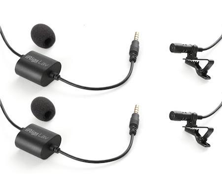 iRig Dasspeldmicrofoons Dubbelpack voor smartphone video
